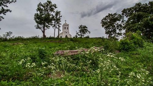 An idyllic church in the rustic countryside of Araku
