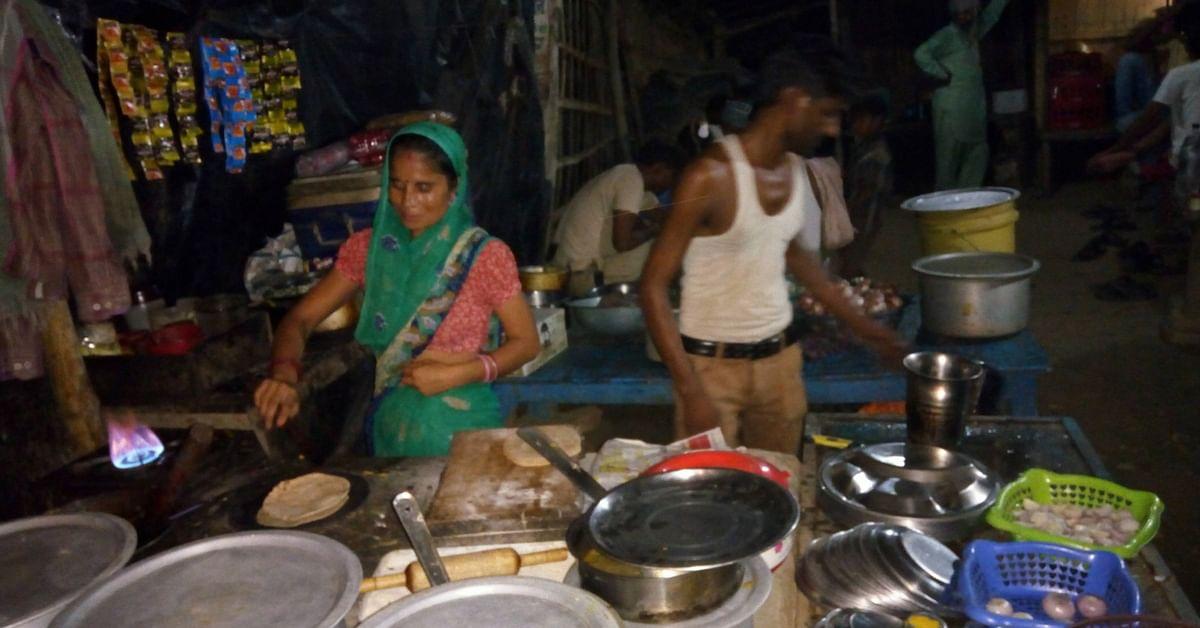 Lakshmi and Krishna Gopal, at the dhaba