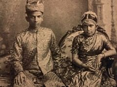 Sethu Lakshmi Bayi with Rama Varma Koil Thampuran on their wedding day
