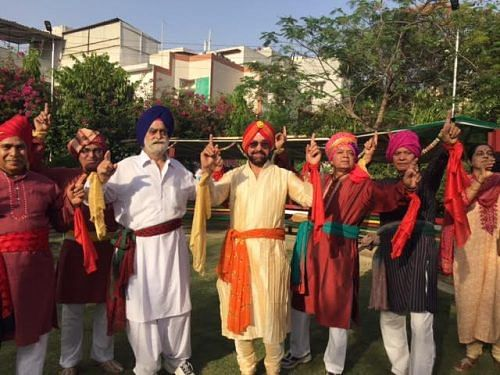 Members of Humjoli celebrate Baisakhi