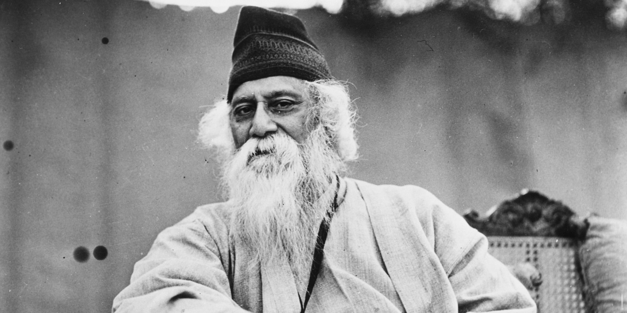 Portrait of Indian author and poet Rabindranath Tagore, circa 1935. (Photo by Fox Photos/Hulton Archive/Getty Images)
