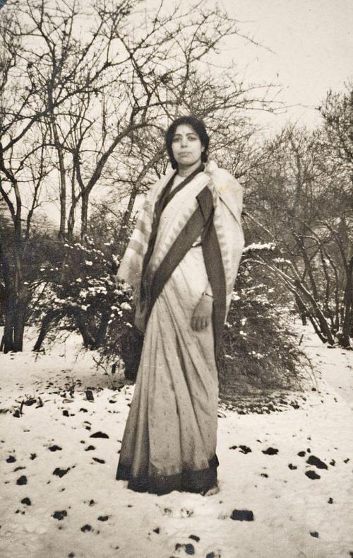 janaki_ammal_standing_in_snow