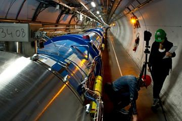 A view of the Large Hadron Collider (LHC). Credit: CERN