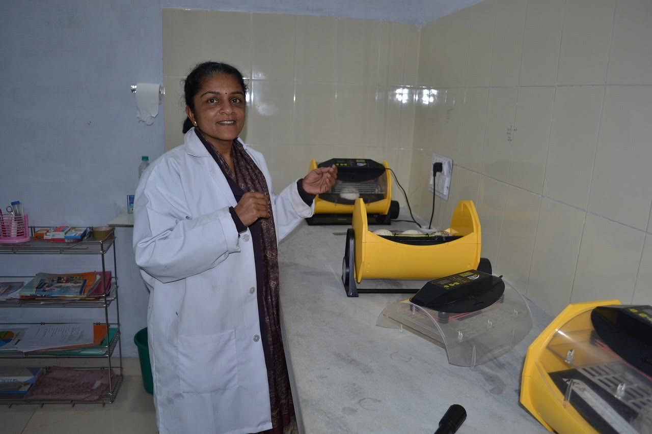 Dr. Nikita Prakash in the laboratory in Pinjore