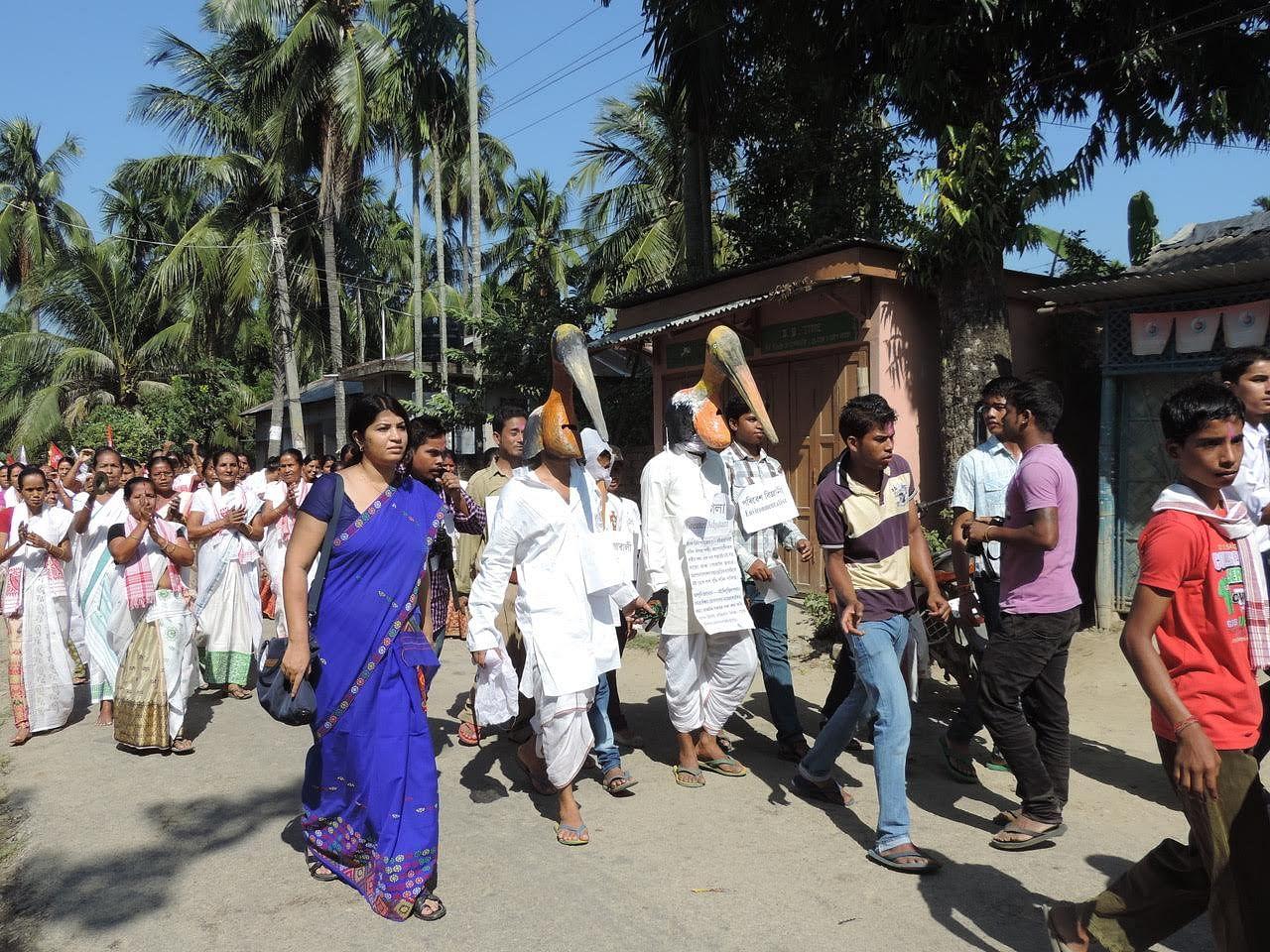 Purnima Devi Barman takes out a rally
