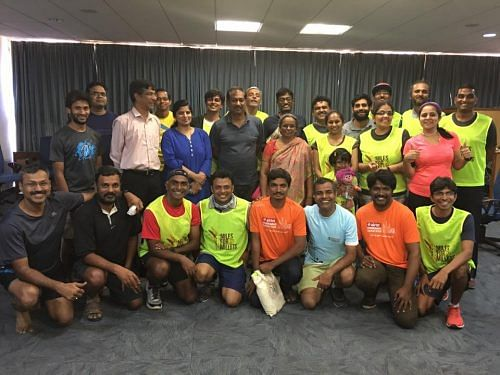 The Mera Terah Run team for millets