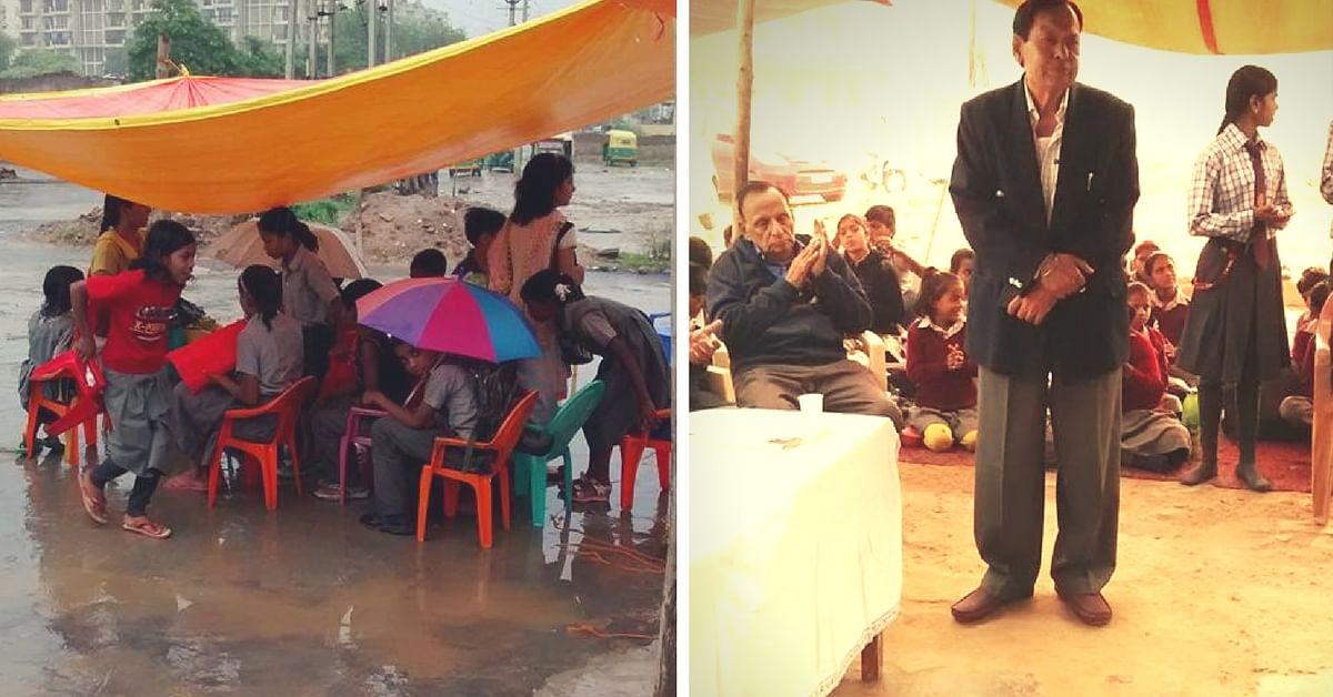 This 70-Year-Old Retd Engineer Runs a School for 460 Underprivileged Children in Tents