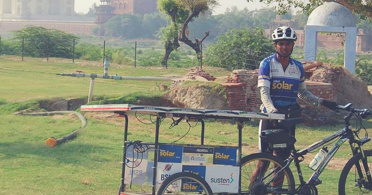 IIT-B Alumnus Breaks a Guinness Record Cycling across 9 States to Raise Awareness on Solar Energy