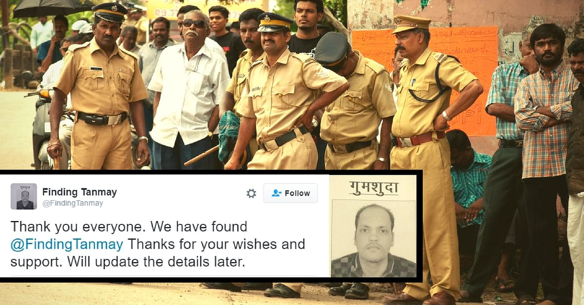 Finding Tanmay: How Social Media Helped Find a Missing Man Suffering from Depression