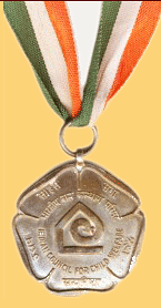 The medal given to the Award winners. (Source: Indian Council for Child Welfare