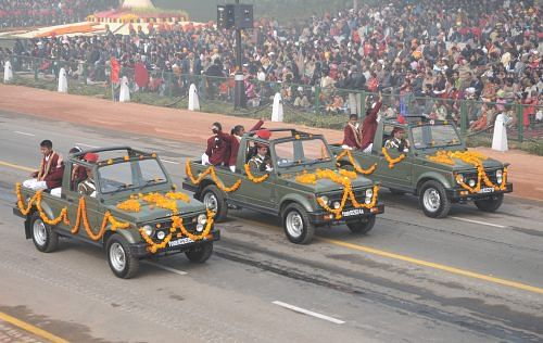 National Bravery Award Children, passing through Rajpath during the 61st Republic Day Parade, 2010, in New Delhi on January 26, 2010. (Source: Flickr