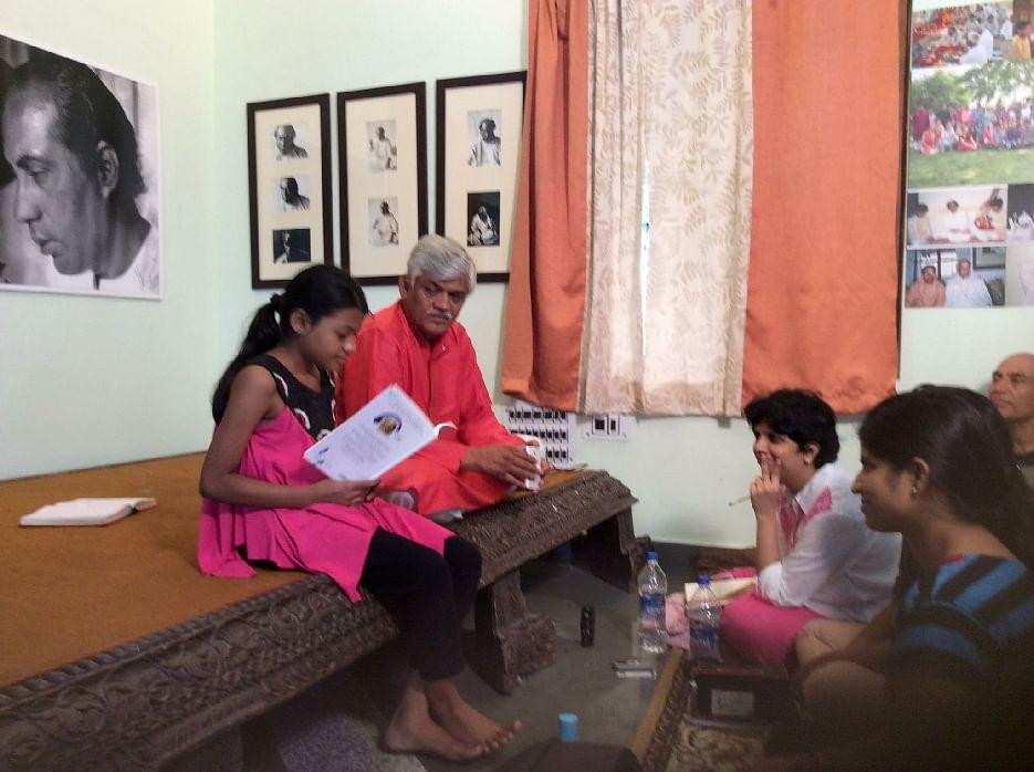 Adhya with Gundecha bandhu