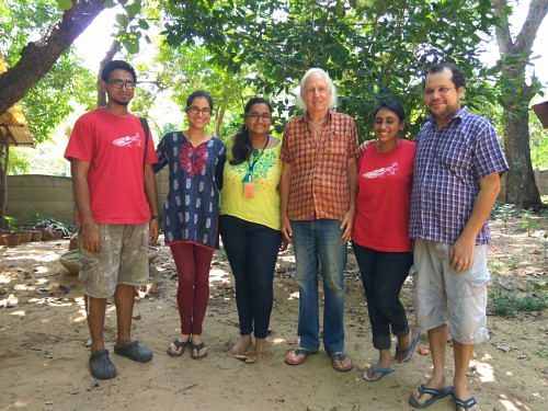 A happy bunch of reptile and wildlife lovers! From left to right: Arul (staff), me (Avan Antia), Vaishali (volunteer), Rom (MCBT co-founder), Anjana (staff), and Nik (MCBT curator).
