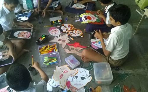 Art workshop in school