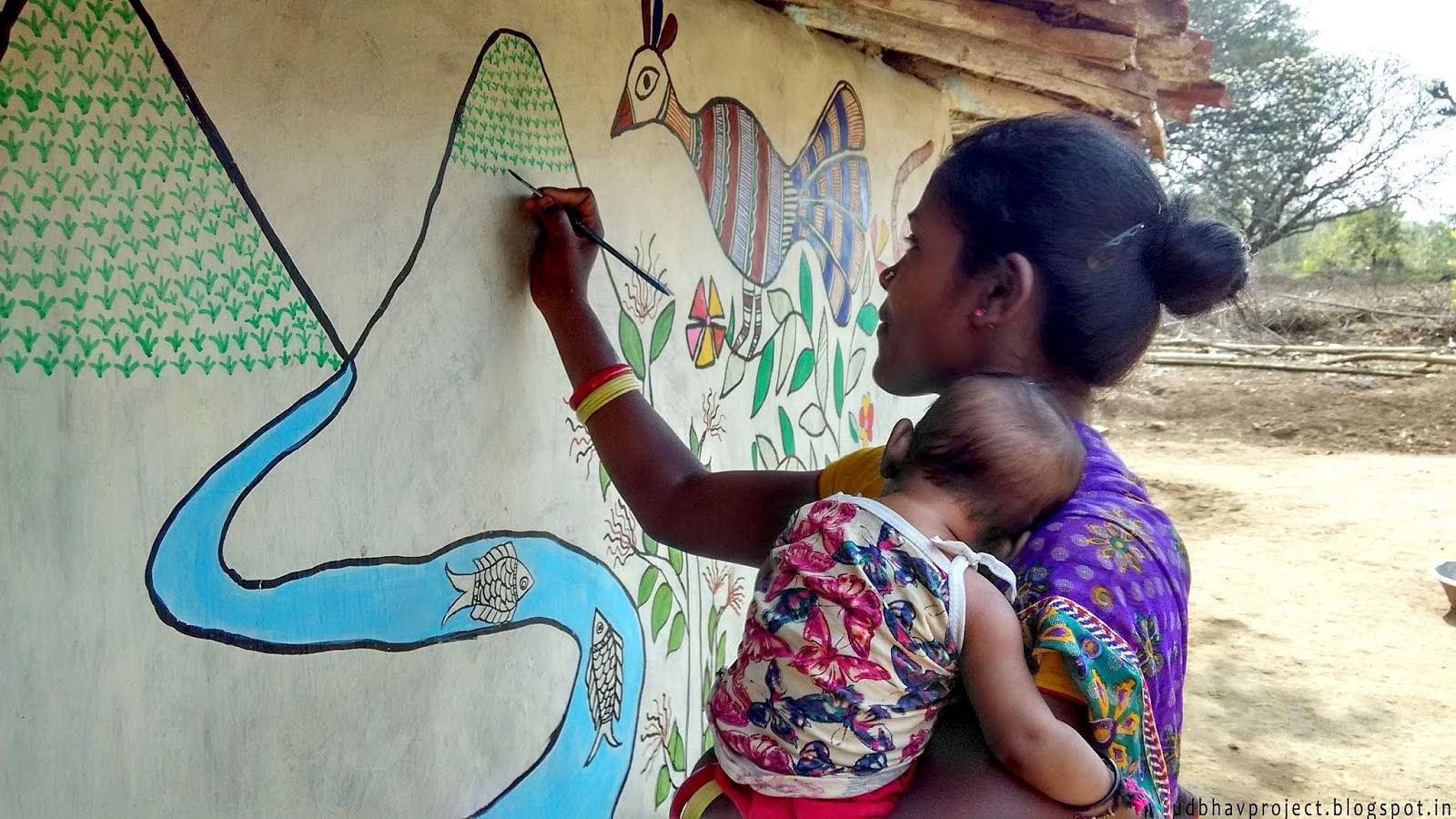 Artist Avinash karn Artreach Udbhav Sunita Devi india