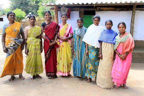 Gouri (4th from Left) with her group