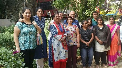 Malini Parmar and volunteers