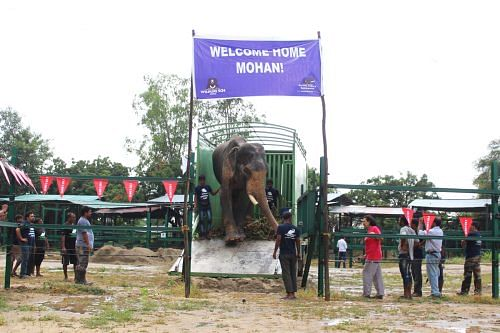 Mohan after rescue coming out of the truck