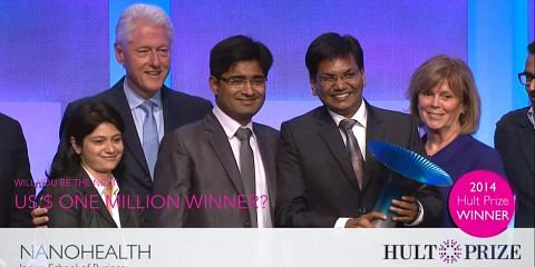 Hult Prize 2014 Winners, Nanohealth from ISB Hyderabad