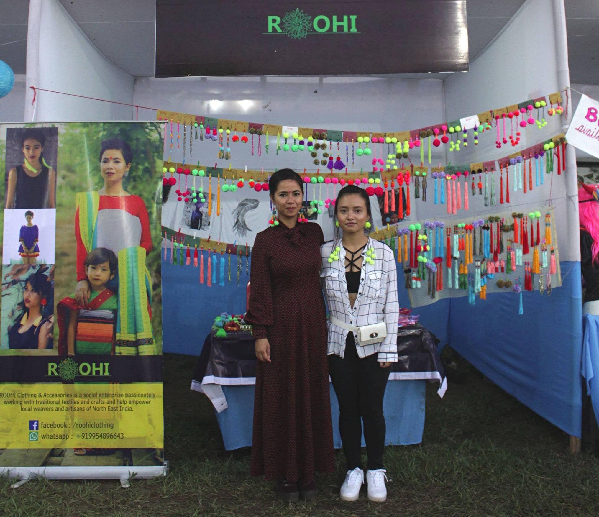 Avantika Haflongbar (left) showcasing ROOHI