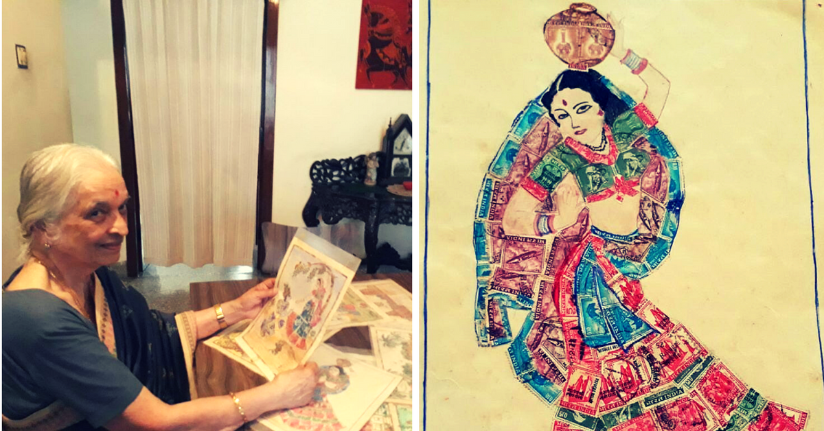 Leaving a Mark: This 82 -Year-Old Woman Has Been Using Stamps to Create Art for 4 Decades