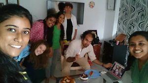 Birthday cake at the PARIvar