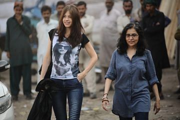 L to R  - Kalki Koechlin and Sabiha Sumar