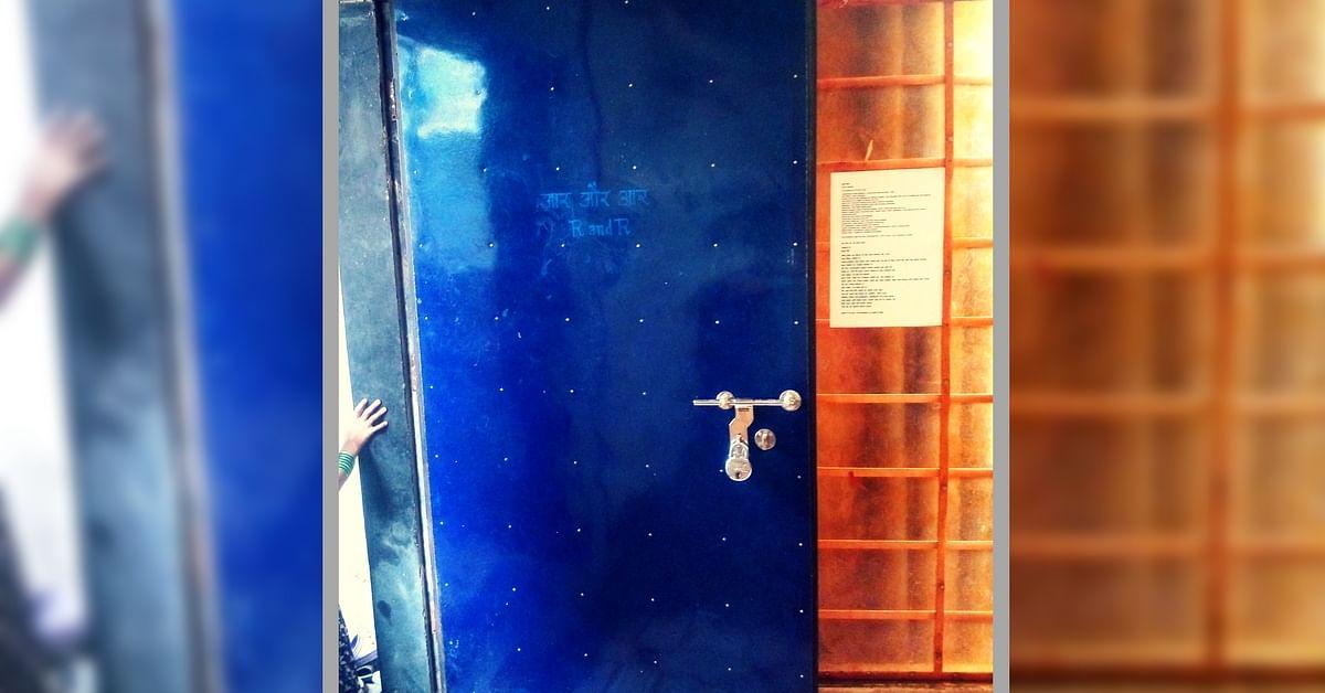 Blue Door behind Building 21-B, Lallubhai Compound Mankhurd