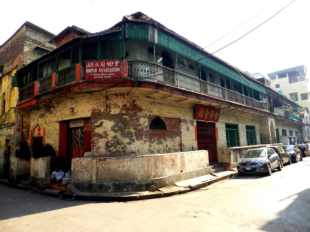 An old building in China Town, Kolkata