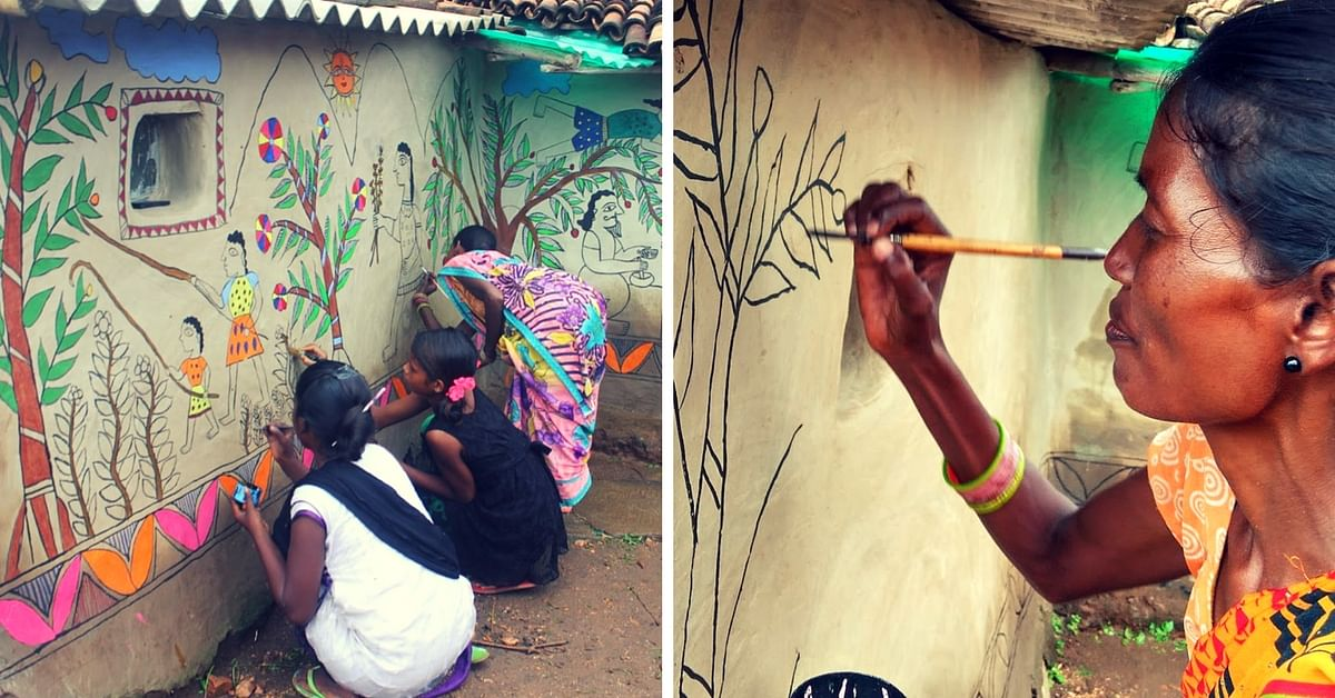 Madhubani Murals On The Walls of These Jharkhand Village Homes Depict the Life & Times of Tribals