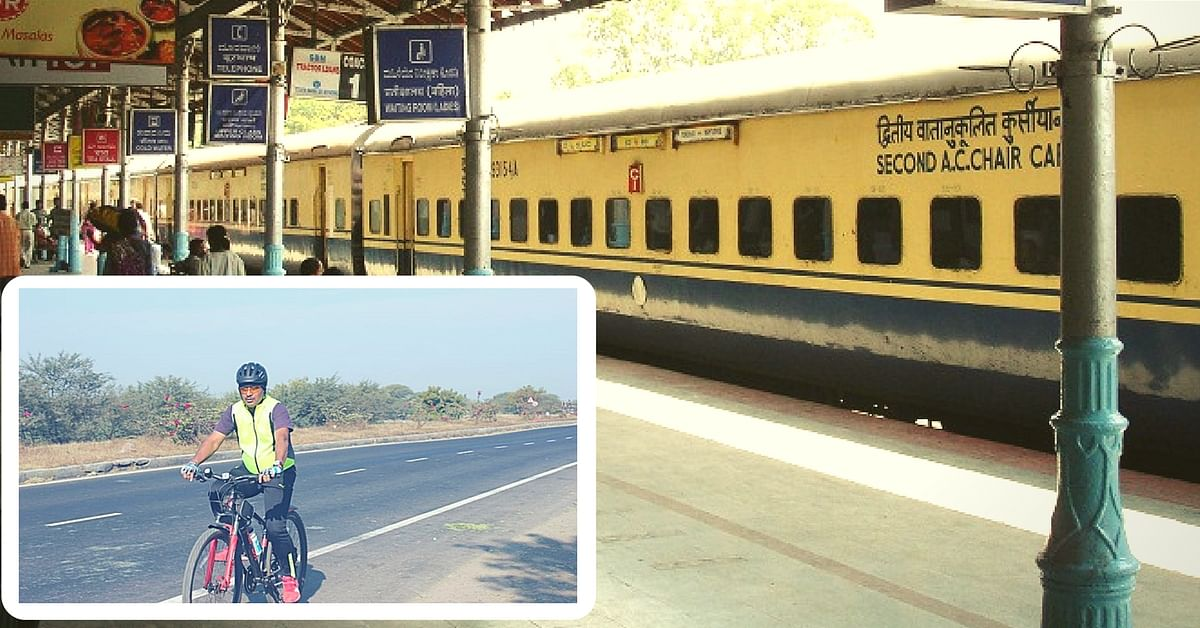This Dedicated Senior Railway Officer Cycled 140 Kms to Conduct a Surprise Inspection at a Station