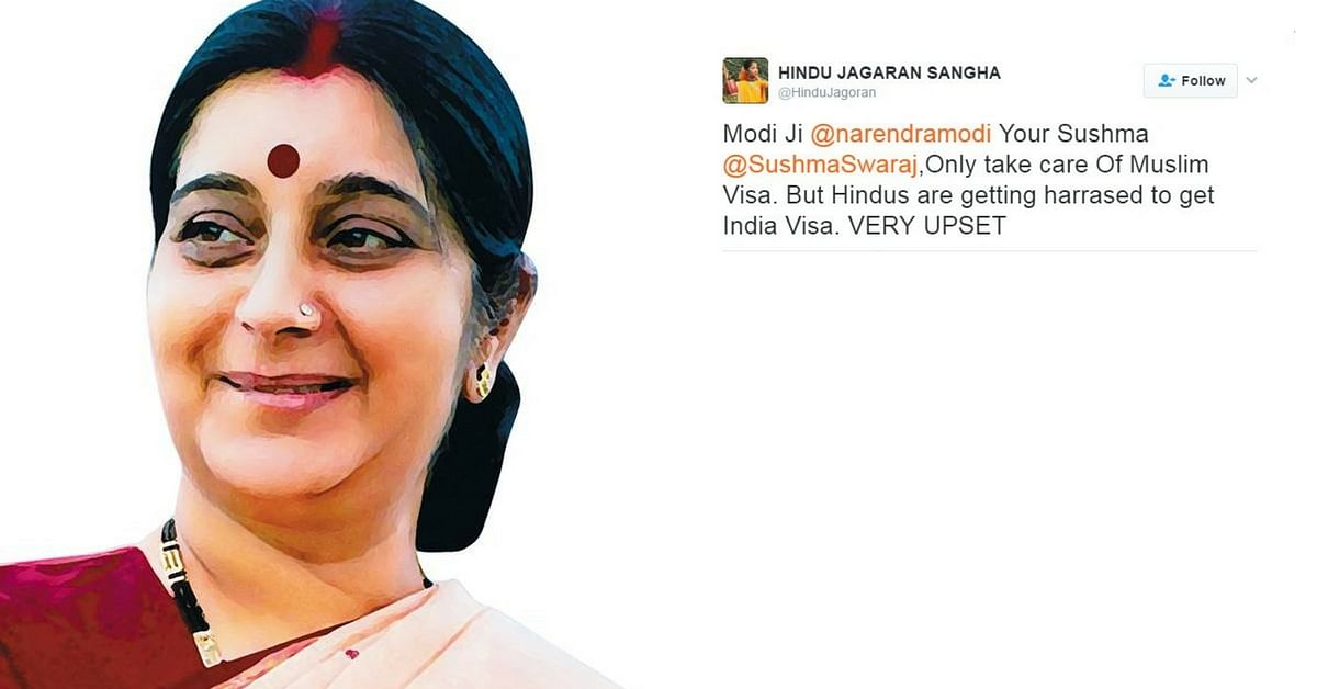 Sushma Swaraj Fires Back at Twitter Troll with a Powerful Lesson in Religious Harmony