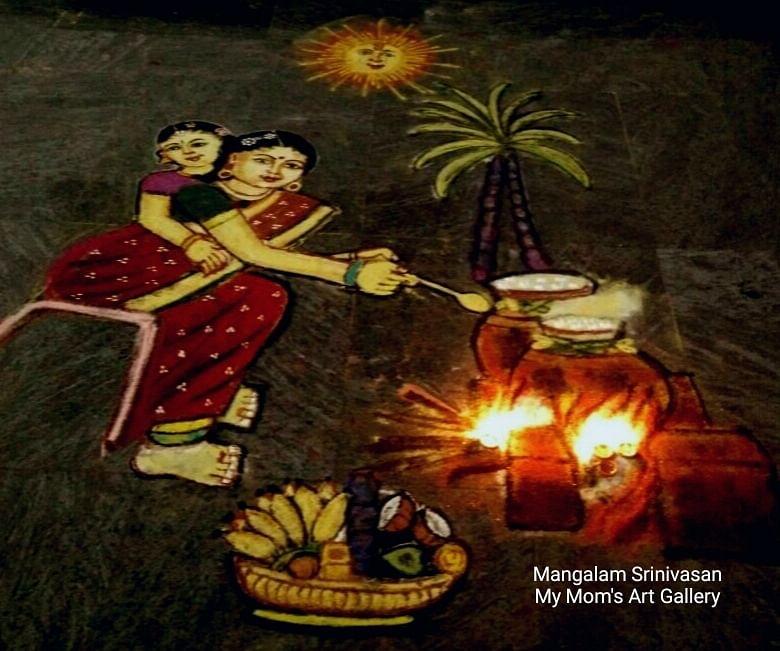 Kolam artwork by Mangalam Srinivasan