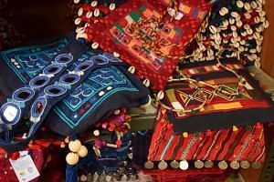 Some of the colorful handbags
