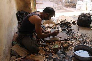 Jodhpuri chappal's sole creation