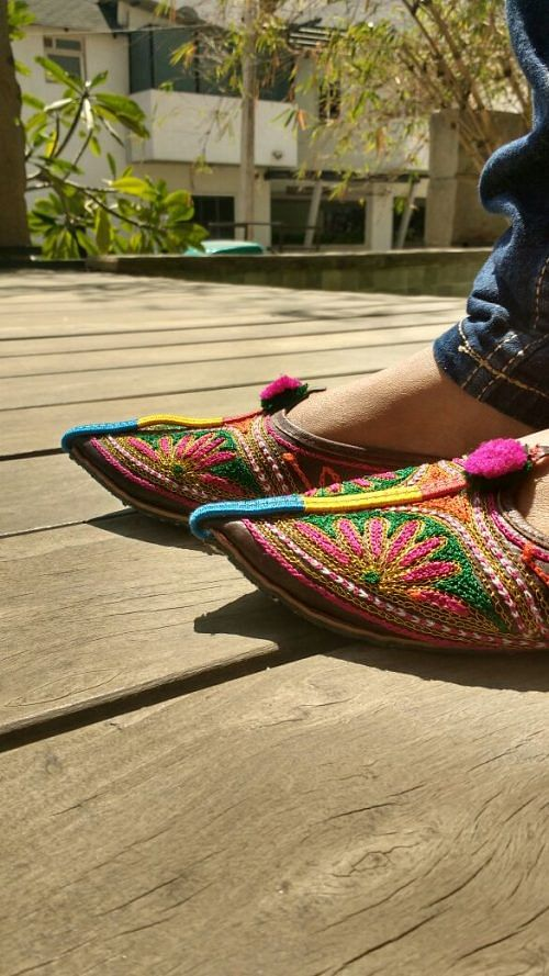 Promotion the Jodhpuri chappals, our own way