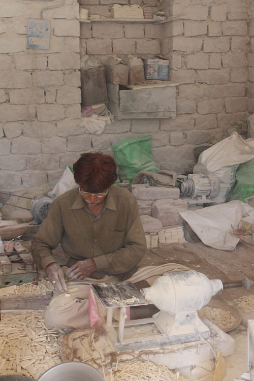 Hussain, the camel bone master craftsman