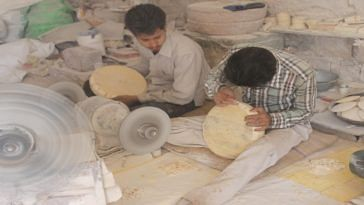 Camel Bone Artists at the Workshop