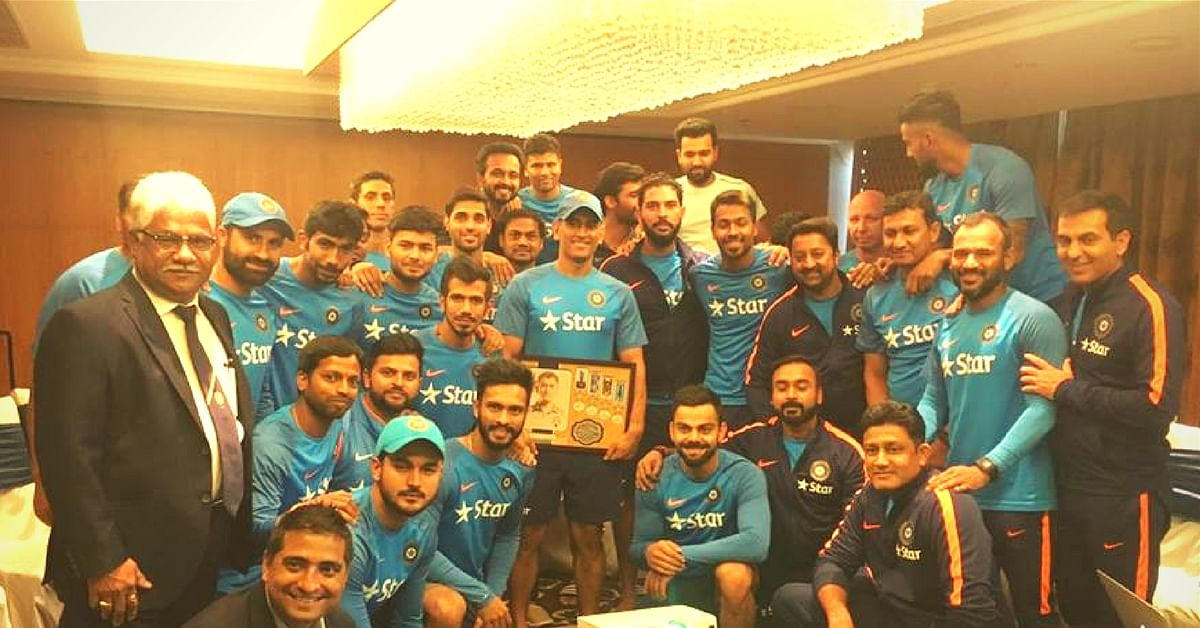 Oh Captain, My Captain! The Indian Cricket Team Has Given the Sweetest Tribute to MS Dhoni