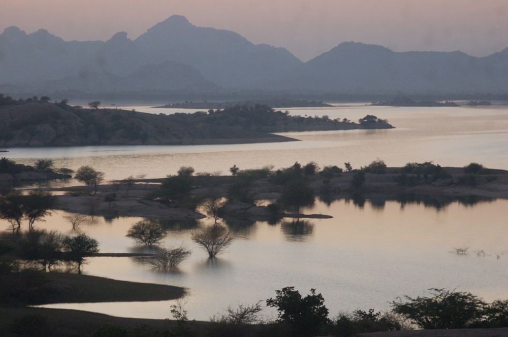 The backwaters of Jawai dam.