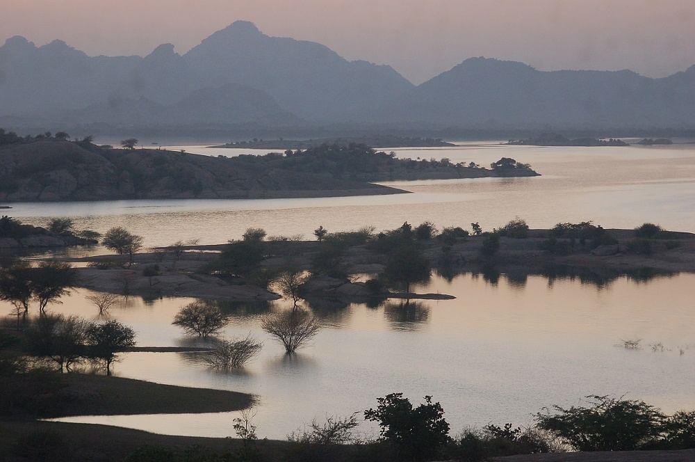 The backwaters of Jawai dam.