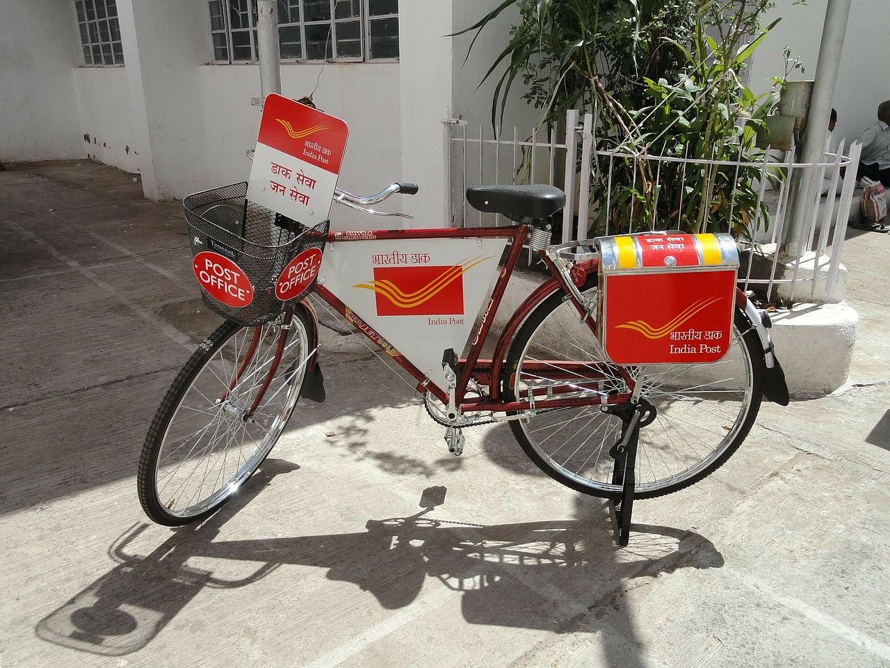 postman's bike - india