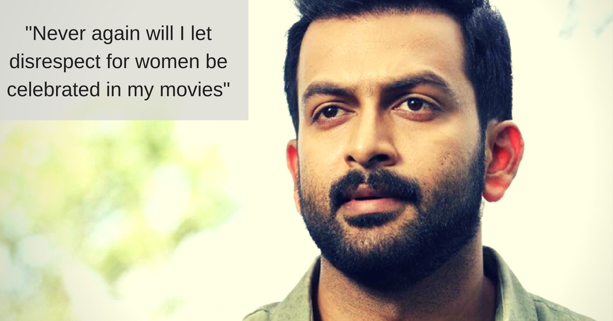 I'm Sorry, Says South Indian Superstar Prithviraj for Promoting Sexism Through His Movies; Vows to Stop