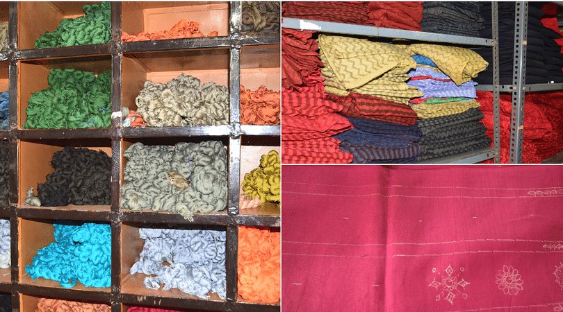 The raw material provided for the lambani art