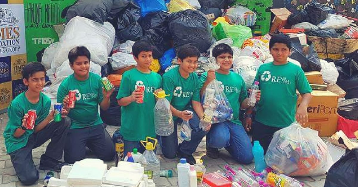 These 12-Year-Old Boys Managed to Collect & Recycle over 1 Tonne of Dry Waste in One Month!