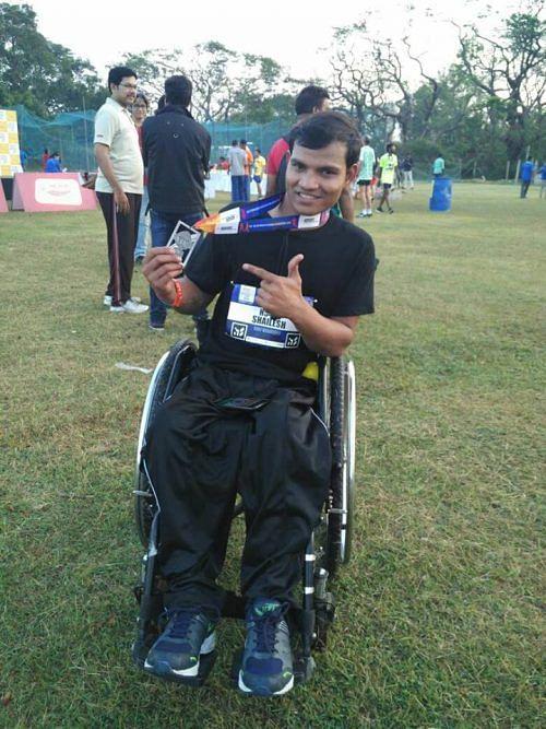 wheelchair marathoner