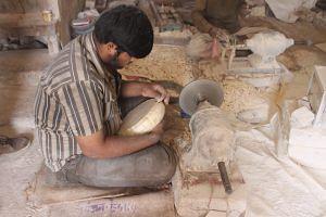 Camel Bone Artisan at Work