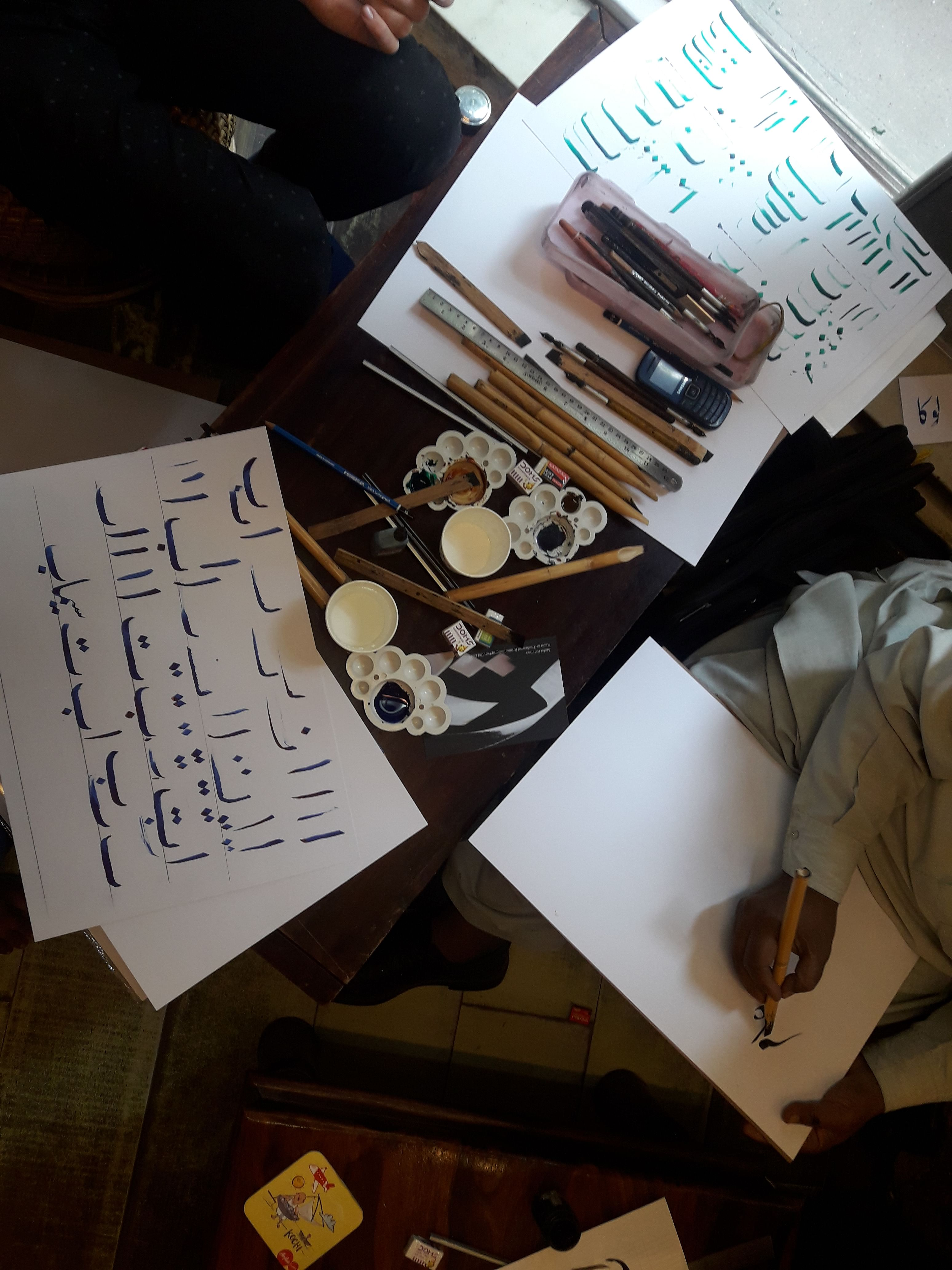 Workshops on Arabic Calligraphy and Phad Paintings conducted by Nazariya in New Delhi