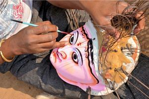Chau Mask Art Craft Tourism