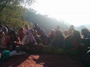 Meeting with women farmers in Pokhrar